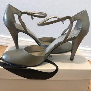 Shoes - Nine West grey/silver heels